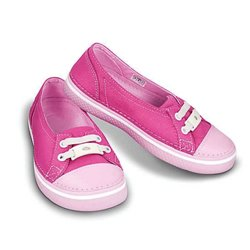 Hover Skimmer Girls Metallic Crocs Fuchsia / Bubble Gum