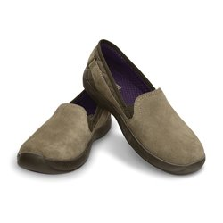 AnyWeather Suede Loafer Crocs Khaki / Mulberry