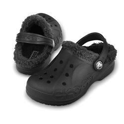 Baya Lined Crocs Black Kids