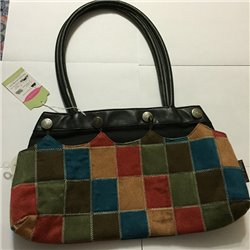 Contemporary Handbag w/ Multi Color Attachment