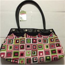Contemporary Handbag with Free Multi Color Attachment