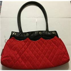 Contemporary Handbag w/ Red Attachment