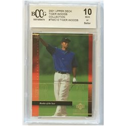 2001 Upper Deck Tiger Woods Collection TWC10 BCCG MINT (10)
