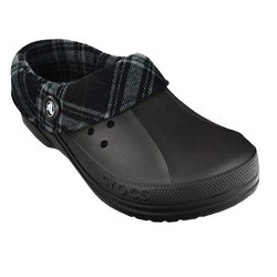 Blitzen Flannel Crocs Black / Charcoal